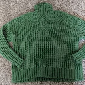 Olive Green Aerie Turtleneck Sweater